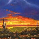 arizona sunset by Howard Searchfield