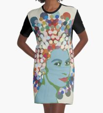 Disco Queen WHITE Graphic T-Shirt Dress