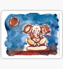Crescent Moon Ganesha Sticker