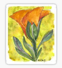 California Poppy Sticker