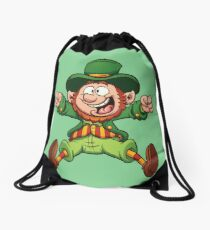 Cartoon Leprechaun Drawstring Bag