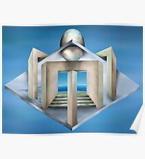 Impossible art deco structure Poster