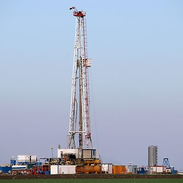 Oil and gas drilling rig in oilfield mining industry by goceris