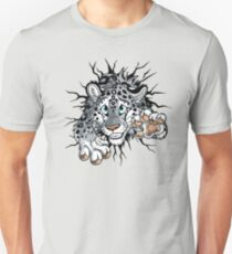 STUCK Snow Leopard (pink nose / paws) T-Shirt