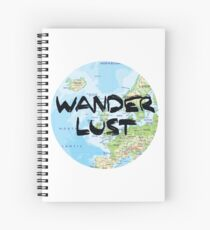 Wanderlust! Rounded Europe Map Spiral Notebook
