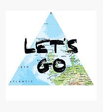 Let's Go! Triangular Europe Map Photographic Print