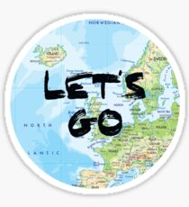 Let's Go! Rounded Europe Map Sticker