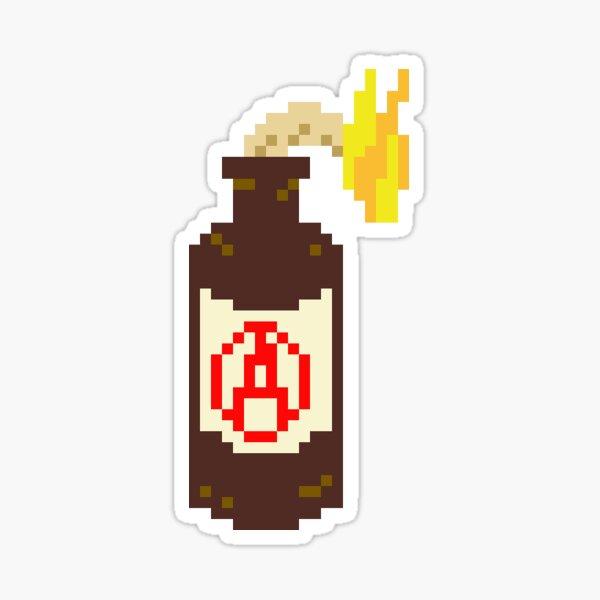 Pixel Molotov Sticker