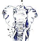 Der blaue Elefant von Nadine Schnabel