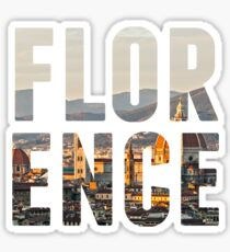 Florence typography Sticker