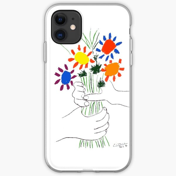 Pablo Picasso Bouquet Of Peace 1958 (Flowers Bouquet With Hands) or Le Bouquet de la Amitié (friendship) iPhone Soft Case