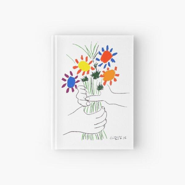 Bouquet Of Peace 1958 (Flowers Bouquet With Hands) or Le Bouquet de la Amitié (friendship) - Picasso Hardcover Journal