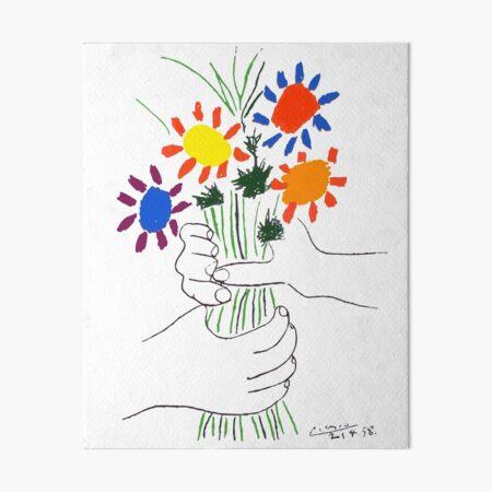 Pablo Picasso Bouquet Of Peace 1958 (Flowers Bouquet With Hands) or Le Bouquet de la Amitié (friendship) Art Board Print