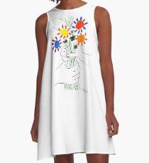 Pablo Picasso Blumenstrauß des Friedens 1958 (Blumenstrauß mit den Händen), T-Shirt, Artwork A-Linien Kleid