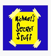 Michael's Secret Stuff - Space Jam Bottle  Photographic Print