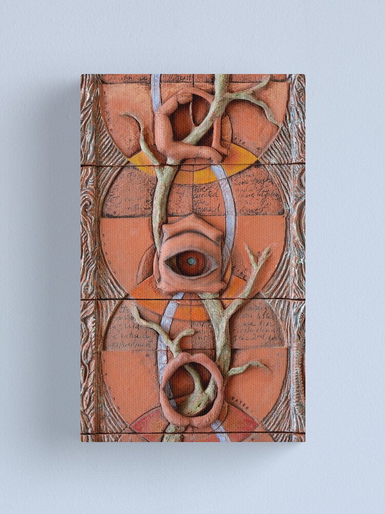 Alternate view of Sense Doors (detail of Lotus VII) Canvas Print