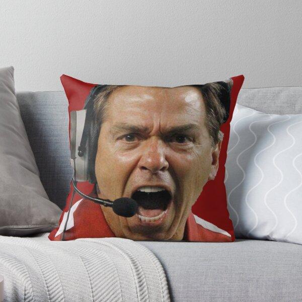Nick Saban The Hulk Throw Pillow