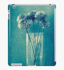 Monochrome flowers and vase iPad Case/Skin