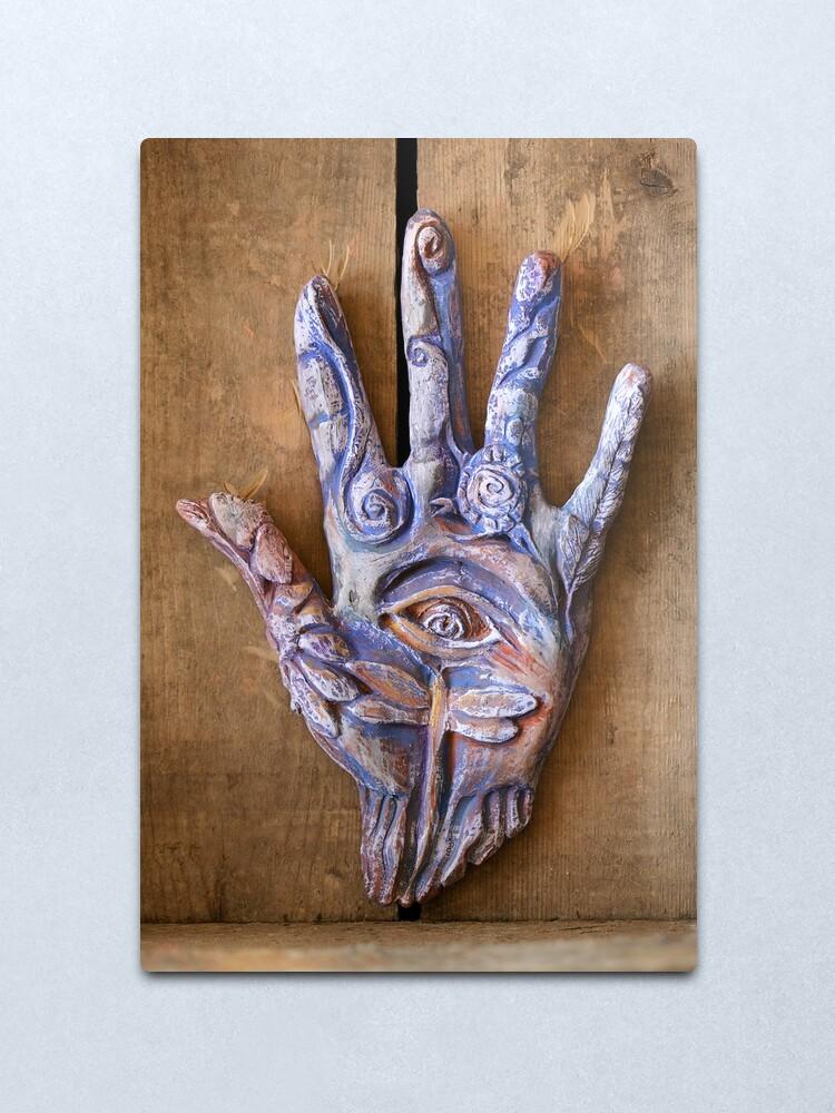 Alternate view of Hand Eye Metal Print