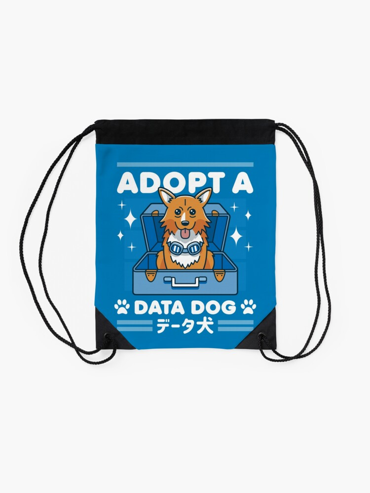 Alternate view of Adopt a Data Dog Drawstring Bag