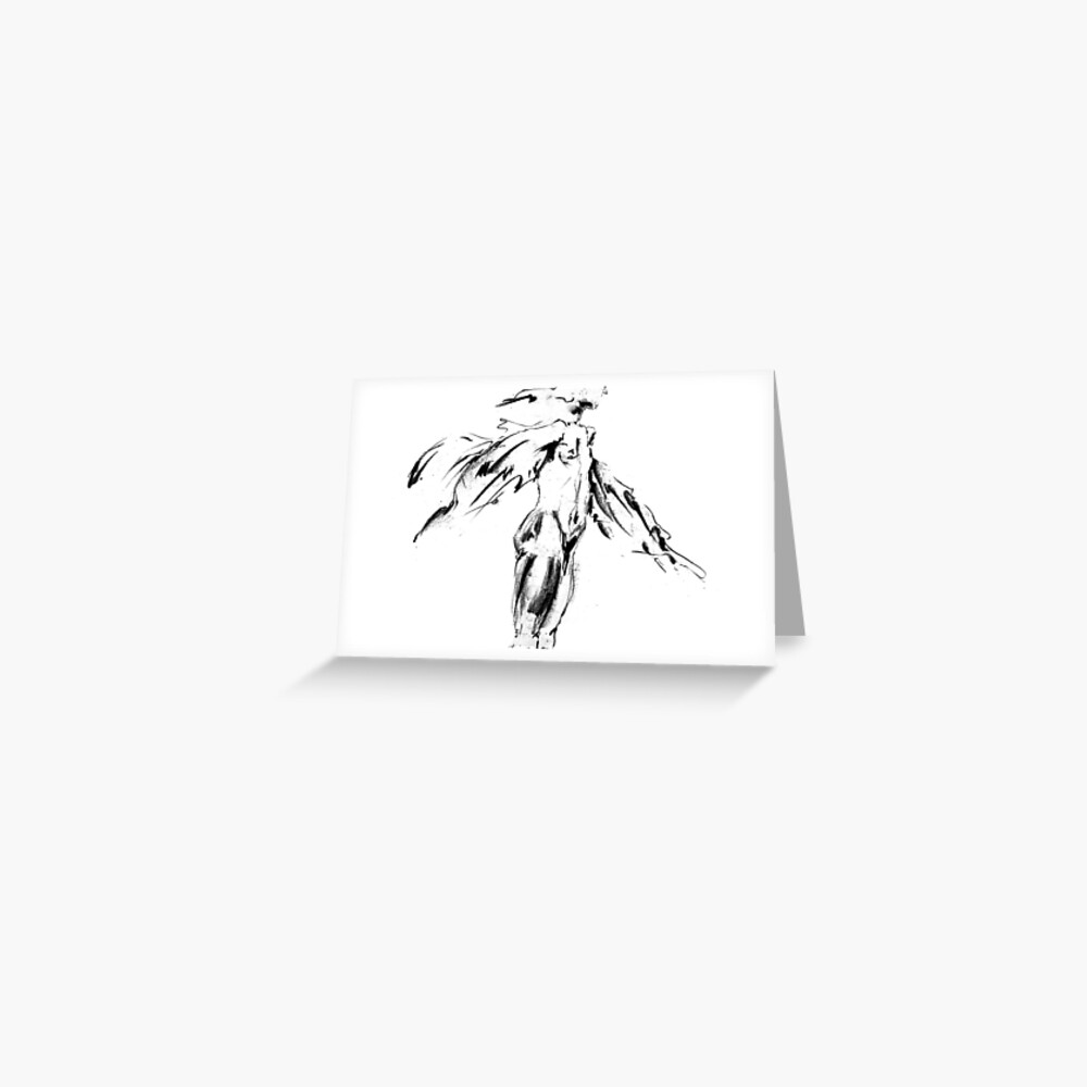Thought Form - moving man II Greeting Card