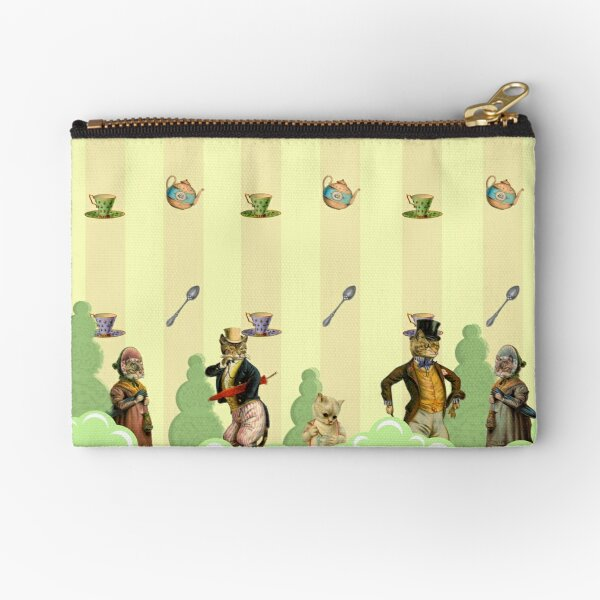 Garden Party is the Cat's Meow Zipper Pouch