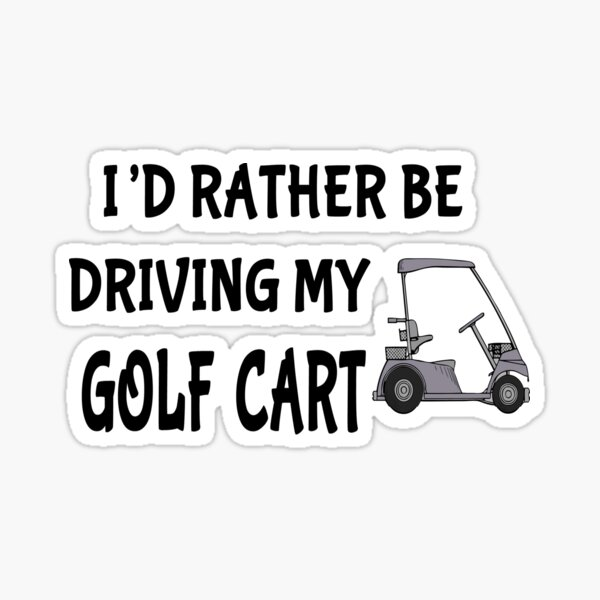 Golf Cart Stickers Redbubble