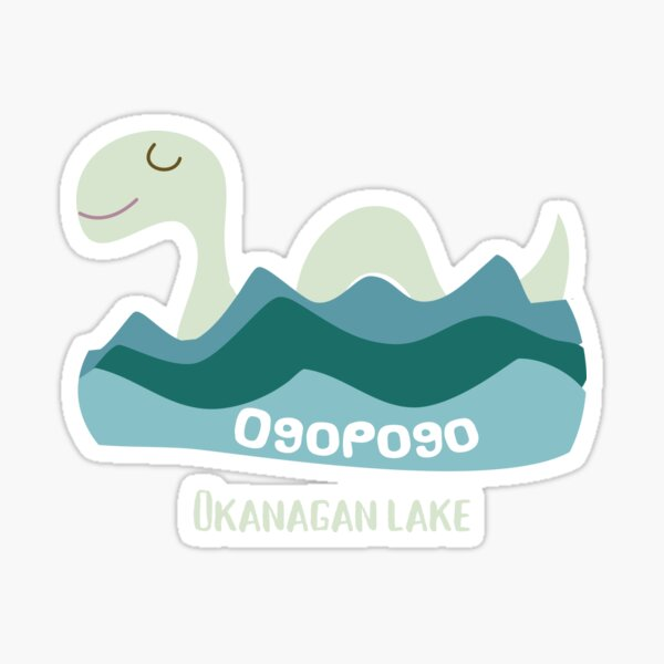 Ogopogo the Okanagan Lake Monster Sticker