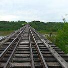 Railway Tracks ,Bridgeing The Gap  by MaeBelle