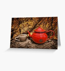 Still Life with Red Teapot Greeting Card