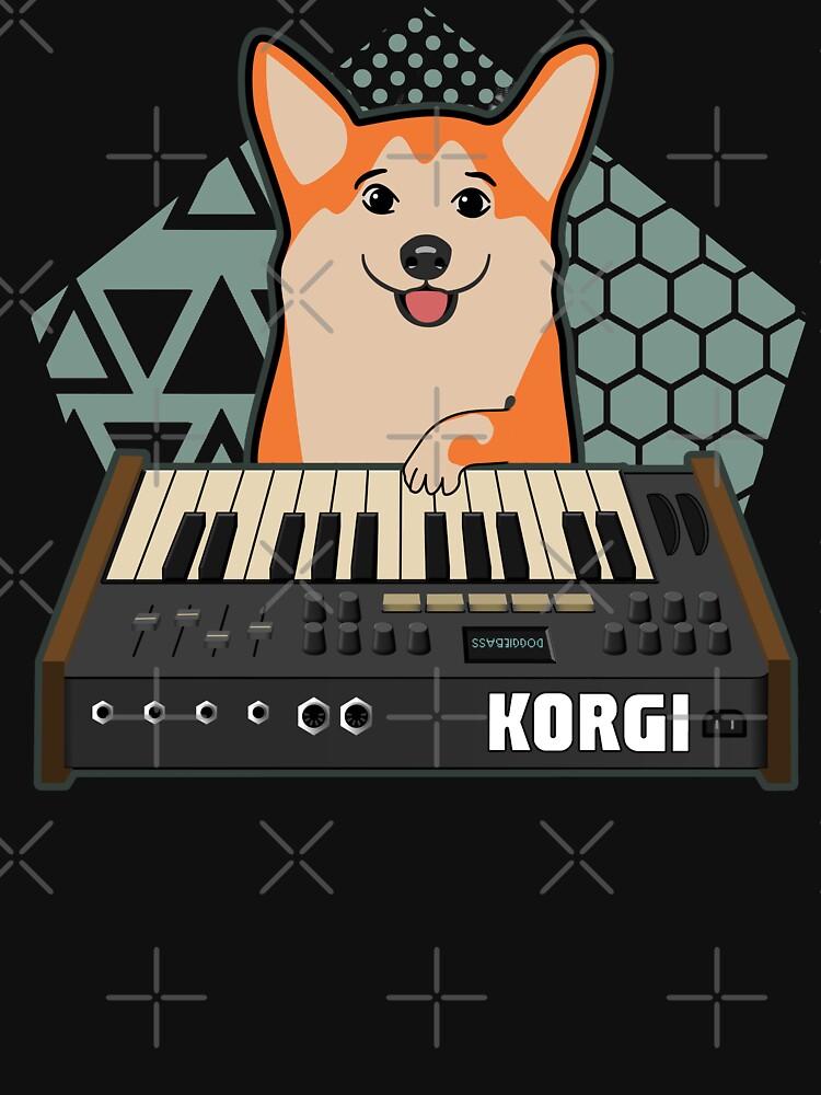 Funny Synthesizer fan KORGI Corgi Dog Lover by mewzeek-T