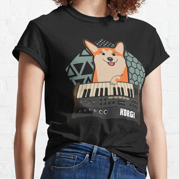 Divertido sintetizador fan KORGI Corgi Dog Lover Camiseta clásica
