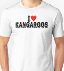 Kangaroo Lover Product  I Love  Gifts For Animal Enthusiast  design Slim Fit T-Shirt