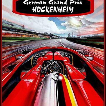 HOCKENHEIM: Oldtimer Grand Prix Auto Racing Print von posterbobs