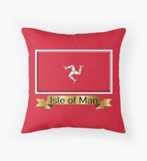 Isle of Man Named Flag Gifts Throw Pillow