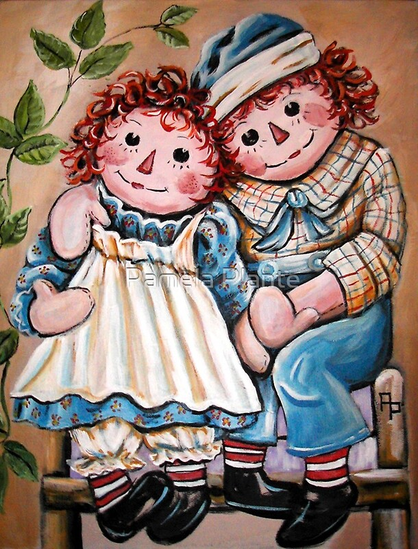 """""""Raggedy Ann and Andy"""" by Pamela Plante   Redbubble"""