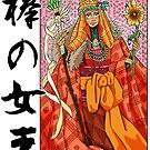 Queen of Staves Tarot card by ZakuroMedia