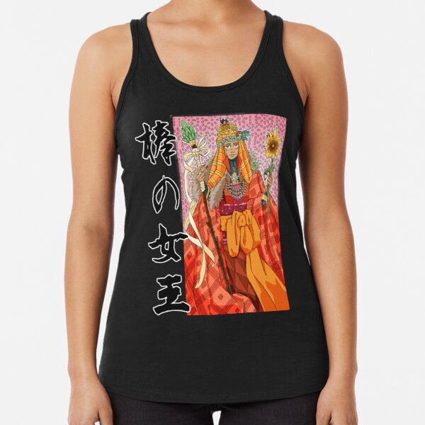 Queen of Staves Tarot card Racerback Tank Top