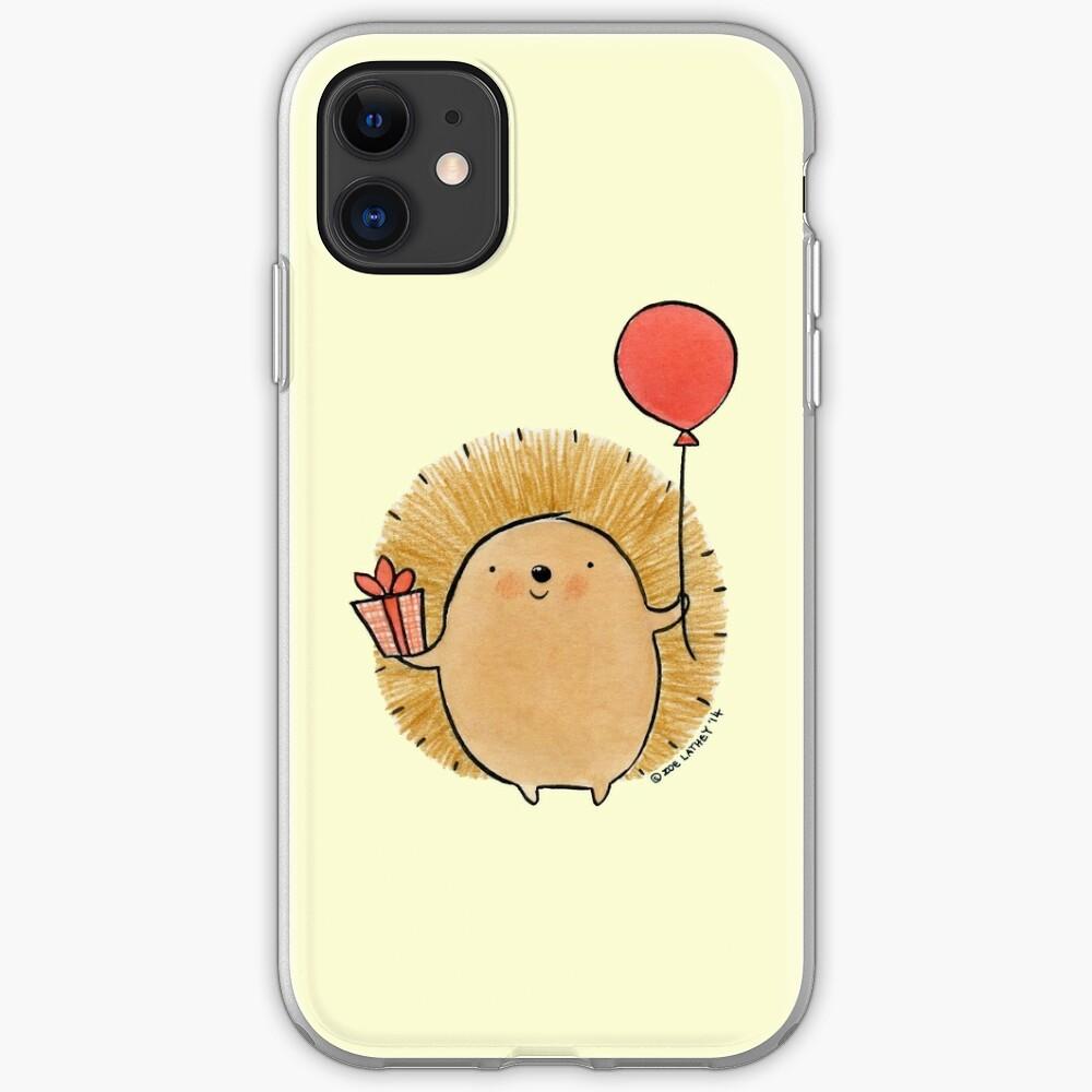 Happy Birthday Hedgehog iPhone Case & Cover