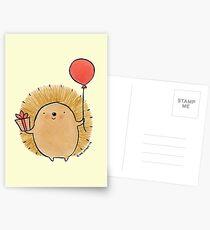 Happy Birthday Hedgehog Postcards