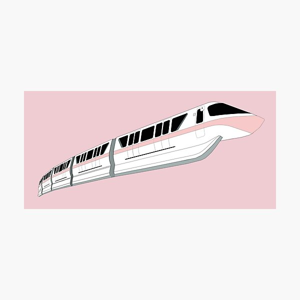 Millennial Pink Monorail Photographic Print