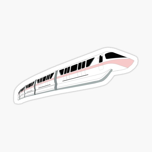 Millennial Pink Monorail Sticker