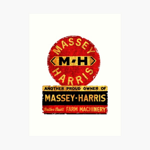 Massey Harris Tractors and Farm machinery USA Art Print