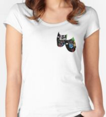 Theatre Masks Collage Women's Fitted Scoop T-Shirt
