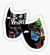 Theatre Masks Collage Sticker