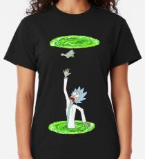 Rick and Morty | Falling Through Portal Classic T-Shirt