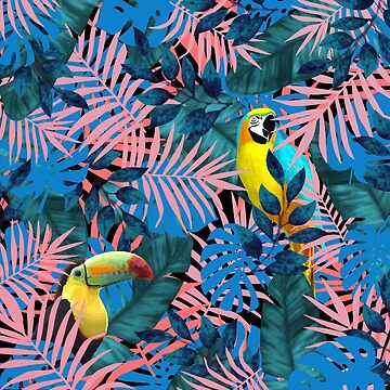 Tropical Jungle Toucan Parrot  by oursunnycdays