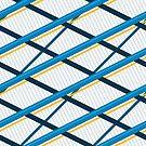 Deco Stripes Blue by Eric Pauker