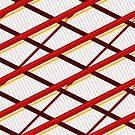 Deco Stripes Scarlet by Eric Pauker