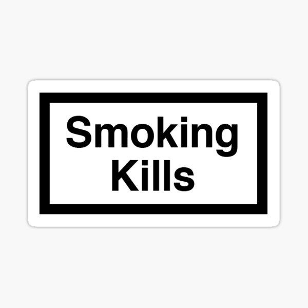 smoking kills Sticker